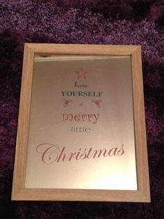 Christmas mirror in frame by AdvanceLaser on Etsy