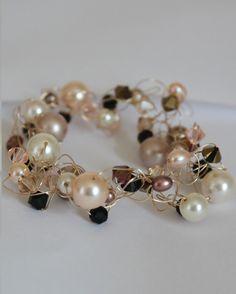 14k Gold Filled Bracelet Crochet Wire Bracelet by InspiredScilly, £130.00