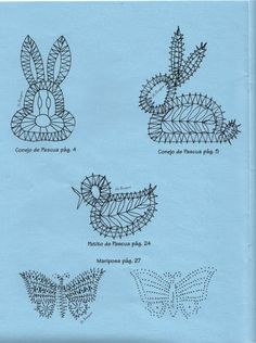 View album on Yandex. Easter Crochet Patterns, Lace Patterns, Embroidery Patterns, Bobbin Lacemaking, Lace Making, Easter Bunny, Tatting, Crafts, Inspiration