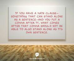 Comma splices are common comma errors