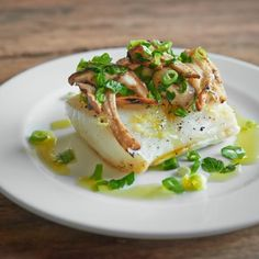 Recipes | Steam Grilled Black Cod, Mushrooms, Italian Parsley and Spring Onion | Sur La Table