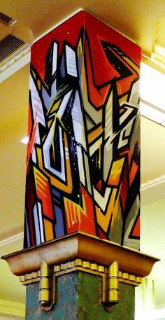 moon one - street art - paris 14, la coupole (juillet 2013)