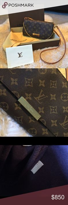 Louis Vuitton favorite MM bag .. Gently used .. mild scratch on the LV hardware which is shown on the pic .. datecode is stamped SD which means it's made in USA which it shows on the inside tag on the pic .. bought last March as a gift from my sister .. box ., dustbag and reprint of receipt is included .. Louis Vuitton Bags Crossbody Bags