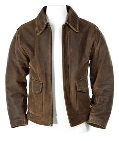 Harrison Ford's signature distressed leather jacket from 'Indiana Jones and the Kingdom of the Crystal Skull'