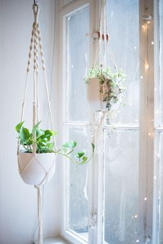 Home & Garden Macrame Plant Hangers Hanging Plant Shelf Indoor Wall Planter Decorative Flower Pot Holder Boho Home Decor Set Of 4 Garden Supplies