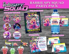 Barbie Spy Squad party pack Barbie Spy Squad by PartyDesignPrint