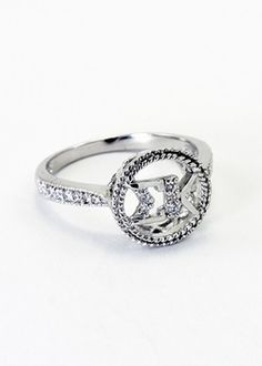 Sigma Kappa Sterling Silver Circular Ring set with Lab-Created Diamonds SALE $39.95. - Greek Clothing and Merchandise - Greek Gear®
