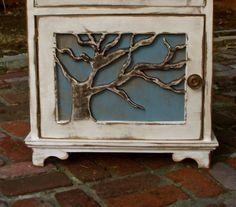 cabin decor wood table artistic furniture oak tree lighthouse rustic elegance beach cottage artistic furniture