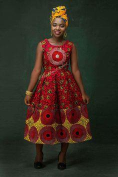 Nkem African midi dress African wrap dress African
