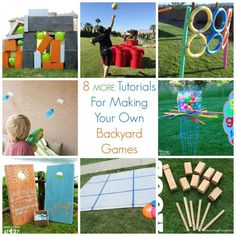 8 MORE Tutorials For Making Your Own Backyard Games