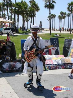 Venice Beach has the best people watching/entertainment.  We've seen this guy every time we have gone.