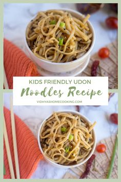 A not-so-spicy and a quick noodles recipe with Japanese wheat flour noodles – Udon Noodles with Peanut Butter. Grab the recipe here! Vegetarian Casserole, Vegetarian Appetizers, Vegetarian Recipes Dinner, Vegetarian Cooking, Amazing Vegetarian Recipes, Delicious Dinner Recipes, Delicious Food, Easy Pasta Recipes