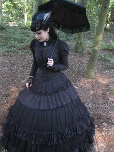 julia-la-strange:  Another one of me at Castlefest 2012. The magpie wing hair fascinator is for sale (€35,-),contact Elegant Curiositiesat...