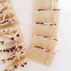 Les faveurs de savon personnalisés - (60) la main savon, Vegan mariage favorise, cotillons. Idées de cadeaux. Cadeaux d
