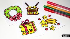 How to Draw Christmas Stuff - Easy and Kawaii Drawings by Garbi KW