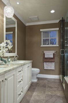 Bathroom Mirrors Vancouver Bc small bath ideas. love the large mirror over the sink and toliet