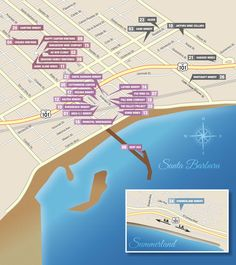 URBA WINE TRAIL - A map of downtown Santa Barbara wineries