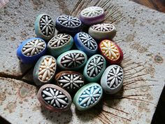 Double Sided Porcelain Beads by RoundRabbit, via Flickr