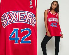 f97a134c8c1 76ers Jersey Sixers Basketball Jersey Shirt Philadelphia 76ers Jerry  STACKHOUSE Retro Sports Throwback 90s Number Vintage Nba 1990s Large