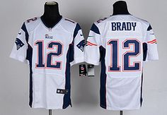 Mode Hot #12 New England Patriots NFL Jersey on sale online with free shipping! 35$