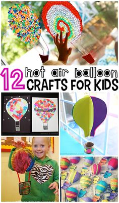 Hot Air Balloon Crafts for Kids to Make (Fun for a summer art project!) | CraftyMorning.com