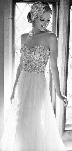Wedding dress idea; Featured Dress: Martina Liana