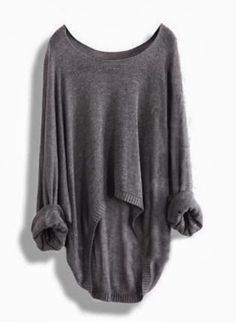 Winetr sweater inspirations for girls:Gorgeous fall grey oversized sweater fashion