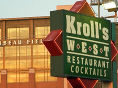 In the shadows of Lambeau lies one of the best places to eat anywhere, Kroll's West! #tradition