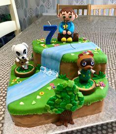 Animal Birthday, 9th Birthday, Birthday Parties, Birthday Cake, Mommys Boy, Motifs Animal, Animal Crossing Game, Cake Stuff, Mask Party