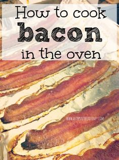 How to cook CRISP bacon in the over at http://www.astepinthejourney.com