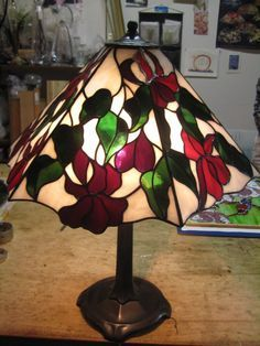 Stained Glass Lamps, Stained Glass Patterns, Leaded Glass, Stained Glass Windows, Fused Glass, Lamp Shades, Light Shades, Tiffany Lamp Shade, Lampe Art Deco