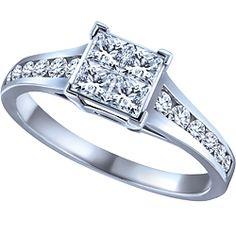 Ben Moss Jewellers 0.75 Carat TW, 14k White Gold Diamond Engagement Ring
