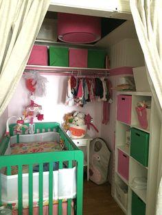Transformed my walk-in closet into a #baby #nursery.