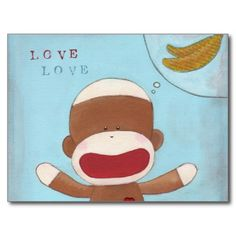 Love & Bananas Postcard