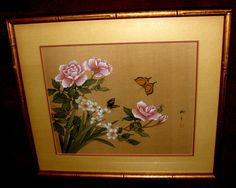 Vintage Oriental Original Japanese Silk by ArtDelightful on Etsy