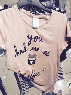 H&M coffee sleep tee