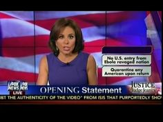 MUST SEE! Judge Jeanine Pirro Opening Statement - Ebola In The U.S.A. - Are Americans Safe? - YouTube