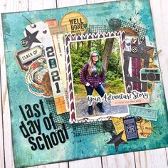 School Scrapbook Layouts, Scrapbook Pages, Scrapbooking, Life Moments, Happy Life, In This Moment, Adventure, Grunge, Heart