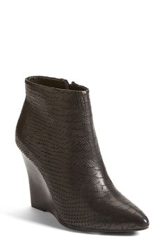 Joie 'Jalena' Snake Embossed Pointy Toe Wedge Bootie (Women)