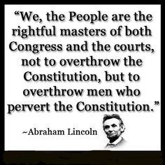 Here the words of AbrahamLincoln ...