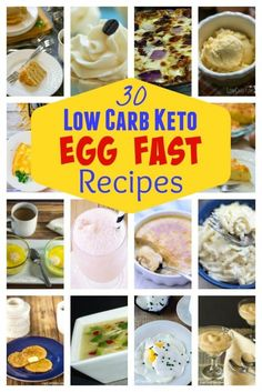 Struggling to lose weight on a low carb diet? An egg fast diet plan may help. Here's 30 egg fast recipes to kick in ketosis quickly to initiate weight loss.   LowCarbYum.com