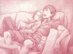 AoT - Nap Time by Terra7 on DeviantArt. Annie & Berthold. Attack on titan. 進撃の巨人. Shingeki no Kyojin. Атака титанов. #SNK. #AOT