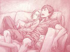 AoT - Nap Time by Terra7 on DeviantArt. Annie & Berthold. Attack on titan. 進撃の巨人. Shingeki no Kyojin. Атака титанов. #SNK. #AOT