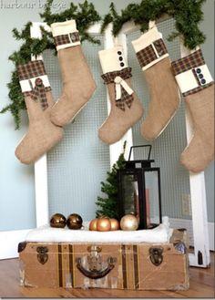 Burlap stockings