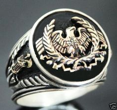 Roman Eagle Fasces Mens Signet ring Sterling Silver #MensStyle