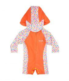 Mango Tango Rash Suit from Rashoodz. Fashionable swimwear for babies and toddlers at great pricing. Stay safe under the sun. Swimwear Fashion, Tango, Toddler Girl, Bathing Suits, Beachwear, Rompers, Peach, Vest, Long Sleeve