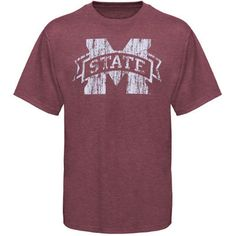 Small Mississippi State Bulldogs Big Logo Overtime Tri-Blend T-Shirt - Maroon
