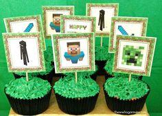 Receta de minecraft cupcakes