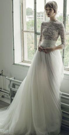 Lace Wedding Dresses*Cheap Wedding Dresses*Spaghetti Straps Wedding Dresses*2017 Wedding Dresses