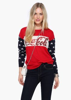 Coca Cola Long Sleeve Sweater in Red | Necessary Clothing